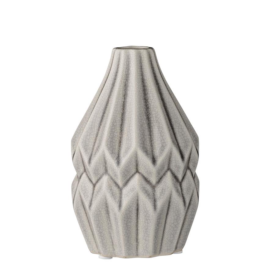 bloomingville porzellan vase wide flute cool grey online kaufen emil paula. Black Bedroom Furniture Sets. Home Design Ideas