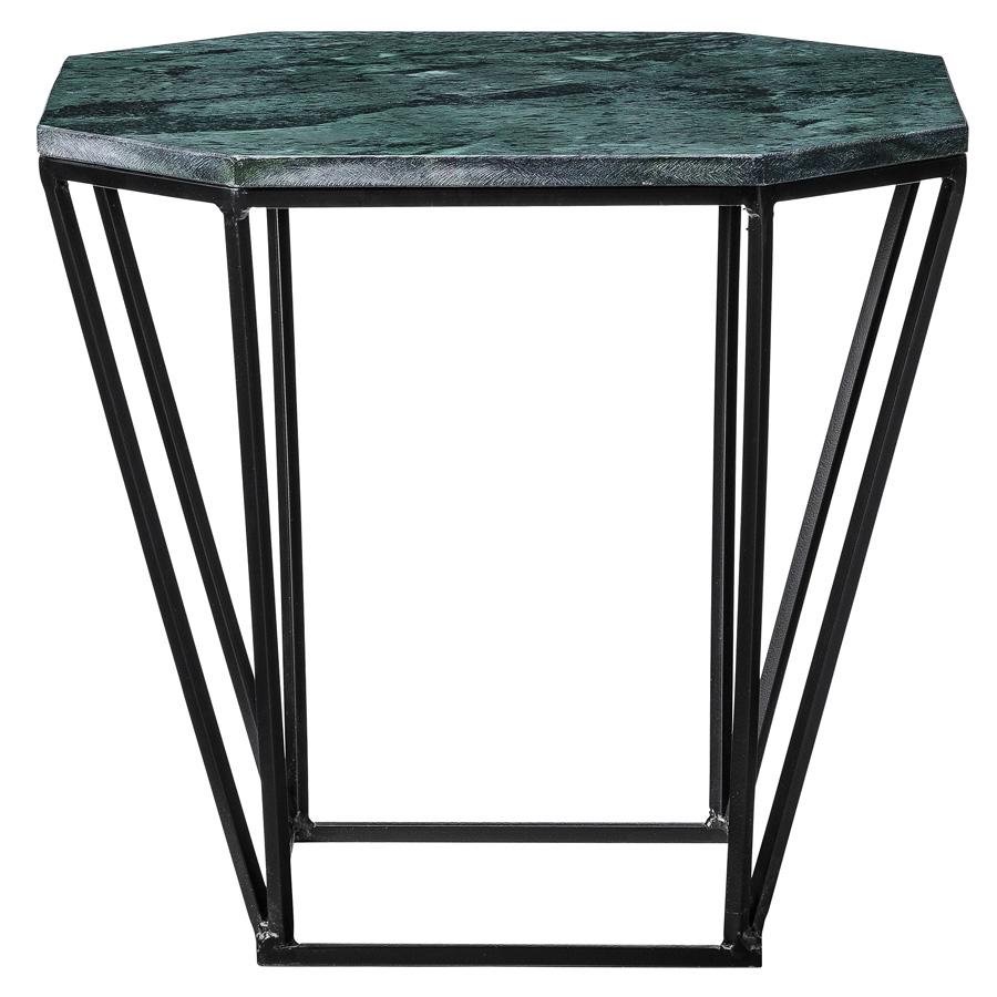 bloomingville tisch pentagonal gr ner marmor schwarz. Black Bedroom Furniture Sets. Home Design Ideas