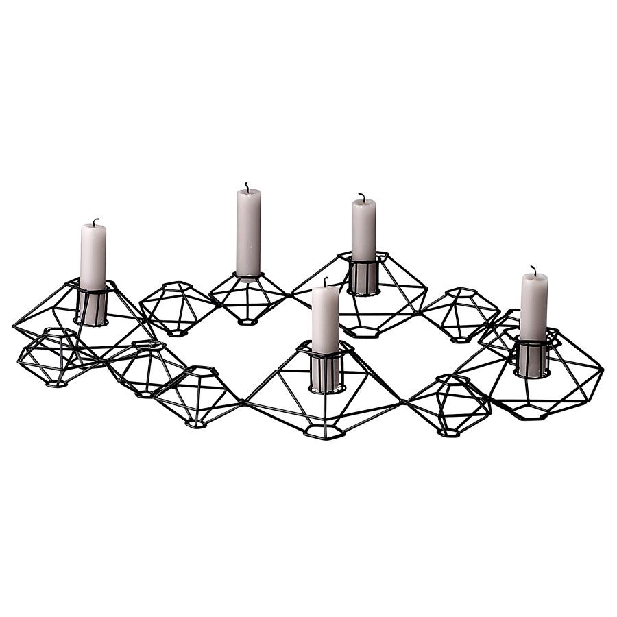bloomingville pernille kerzenhalter mattschwarz online kaufen emil paula. Black Bedroom Furniture Sets. Home Design Ideas
