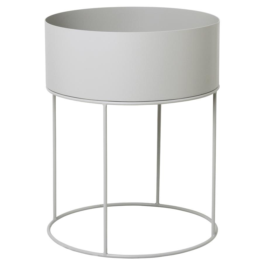 ferm living pflanzen und kr uterbox rund light grey online kaufen emil paula. Black Bedroom Furniture Sets. Home Design Ideas