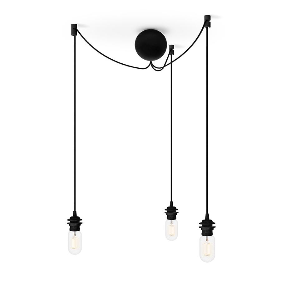 vita copenhagen cannonball black cluster pendelleuchte f r 3 lampenschirme online kaufen emil. Black Bedroom Furniture Sets. Home Design Ideas