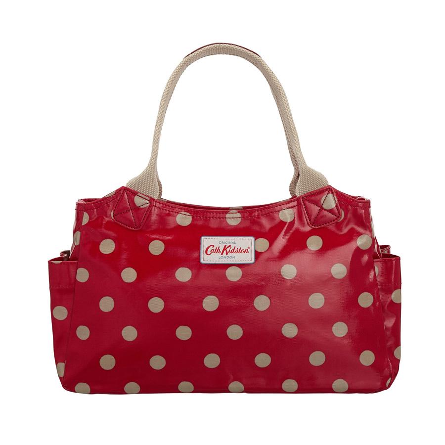 cath kidston handtasche day bag button spot cranberry online kaufen emil paula. Black Bedroom Furniture Sets. Home Design Ideas