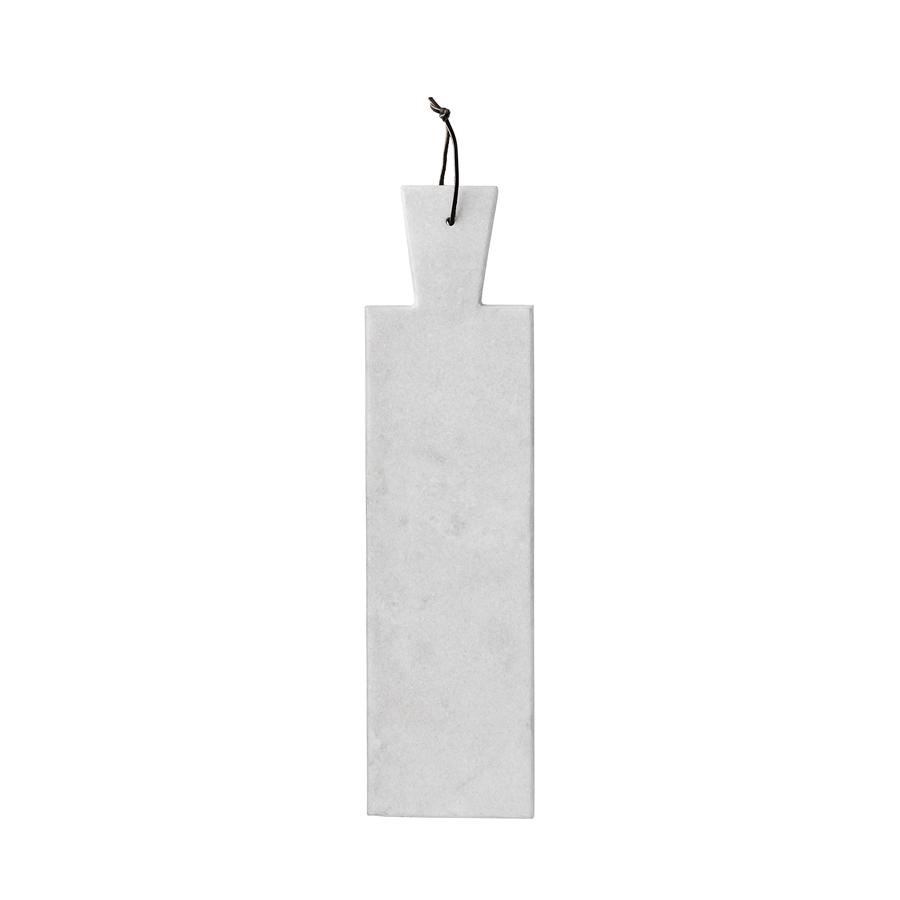 bloomingville marmor schneidebrett mit lederband 13 x 39. Black Bedroom Furniture Sets. Home Design Ideas