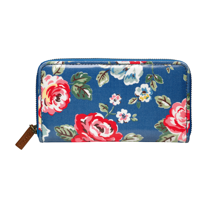 cath kidston geldb rse zip wallet rainbow rose true blue online kaufen emil paula. Black Bedroom Furniture Sets. Home Design Ideas