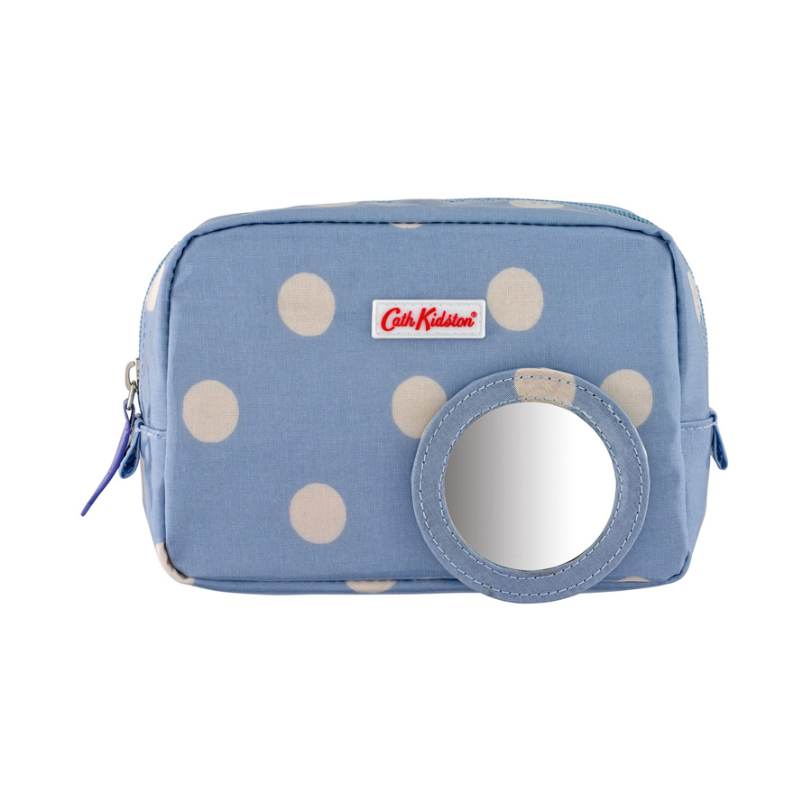 cath kidston make up tasche mini button spot dream blue online kaufen emil paula. Black Bedroom Furniture Sets. Home Design Ideas