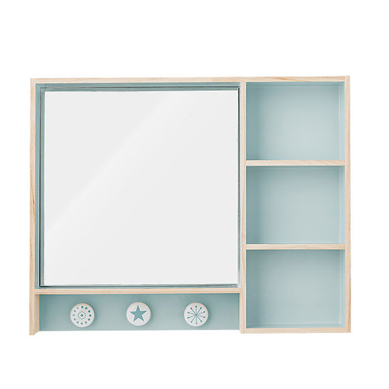 bloomingville schminkspiegel mit f chern und ablagen. Black Bedroom Furniture Sets. Home Design Ideas