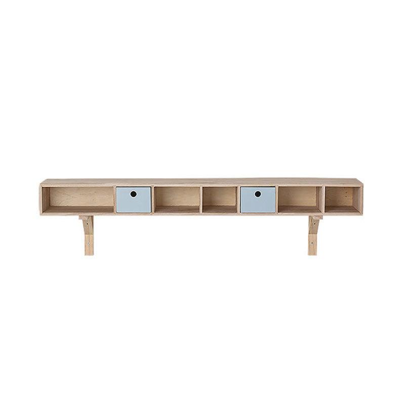 bloomingville regal mit zwei schubf chern holz himmelblau online kaufen emil paula. Black Bedroom Furniture Sets. Home Design Ideas