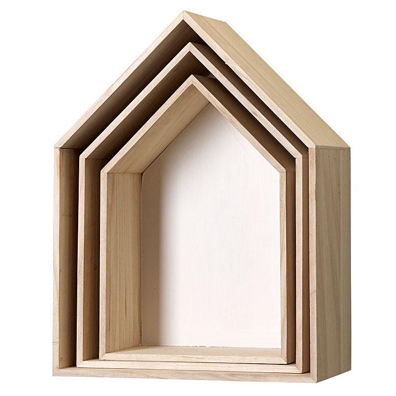 bloomingville klein aufbewahrungskisten haus holz wei. Black Bedroom Furniture Sets. Home Design Ideas