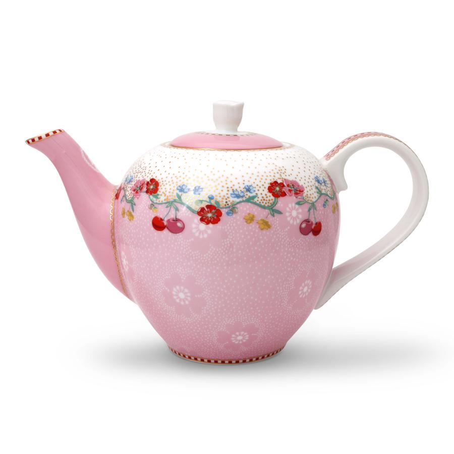 pip studio kleine teekanne cherry pink 550ml online kaufen emil paula. Black Bedroom Furniture Sets. Home Design Ideas