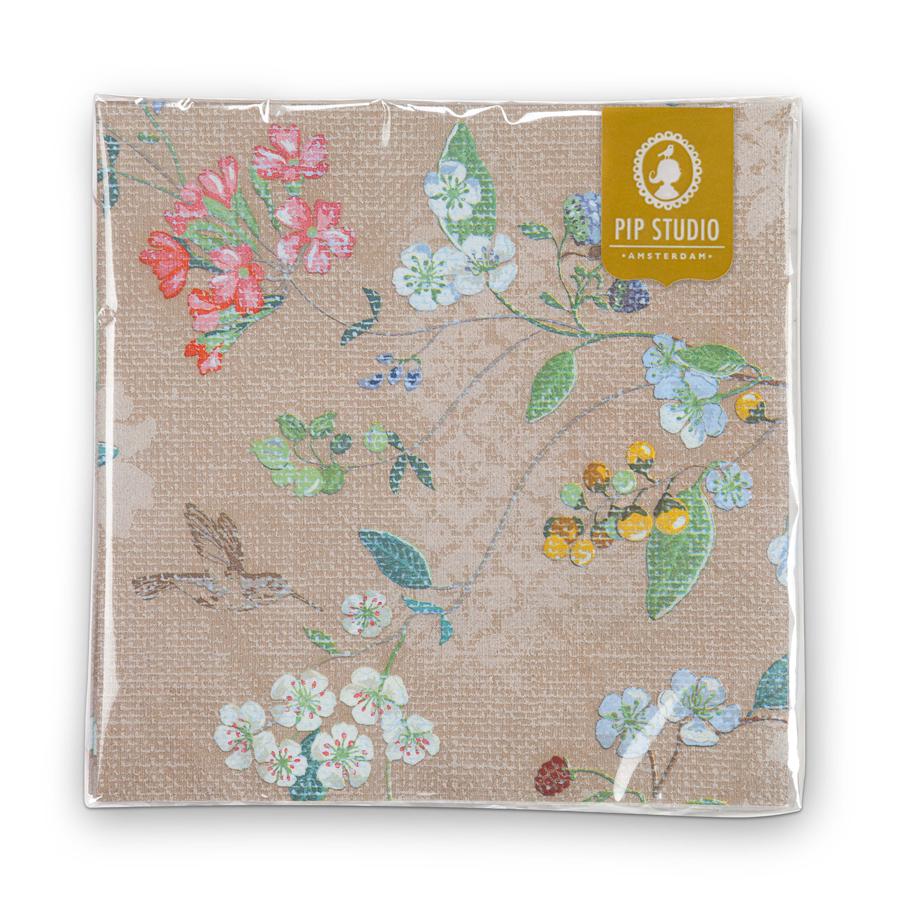 pip studio papier servietten hummingbirds khaki online kaufen emil paula. Black Bedroom Furniture Sets. Home Design Ideas