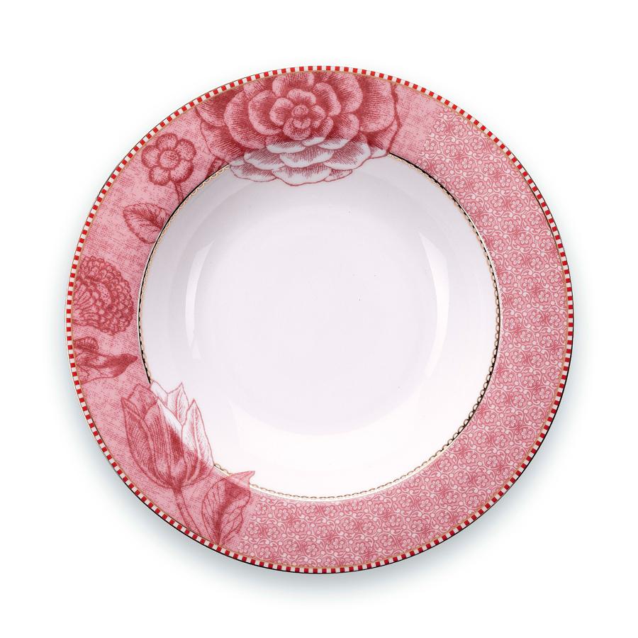 pip studio suppenteller spring to life pink 21 5 cm online kaufen emil paula. Black Bedroom Furniture Sets. Home Design Ideas