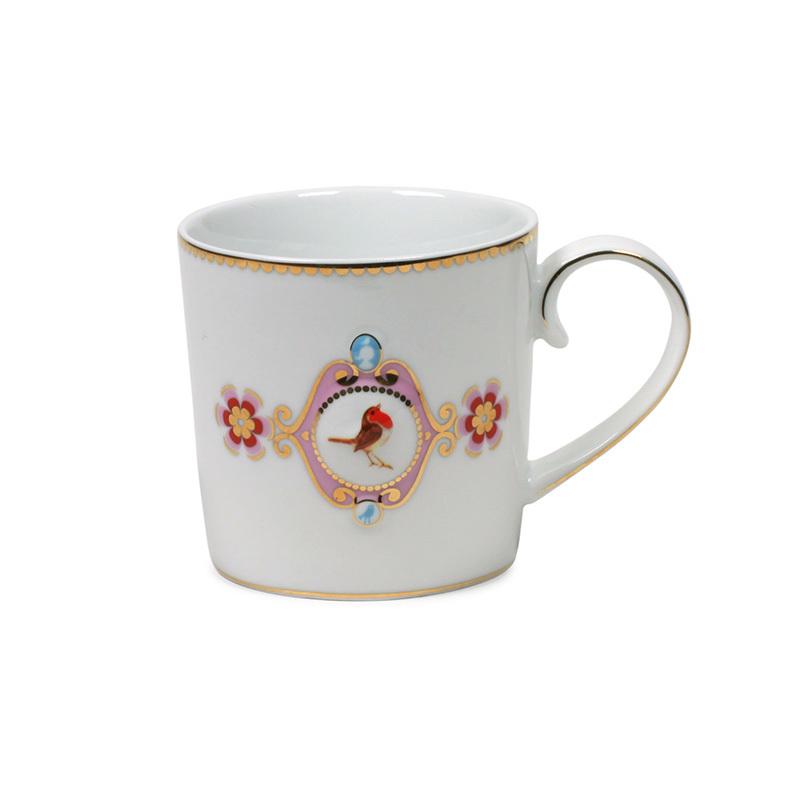 pip studio mug love birds white pink online kaufen emil paula. Black Bedroom Furniture Sets. Home Design Ideas