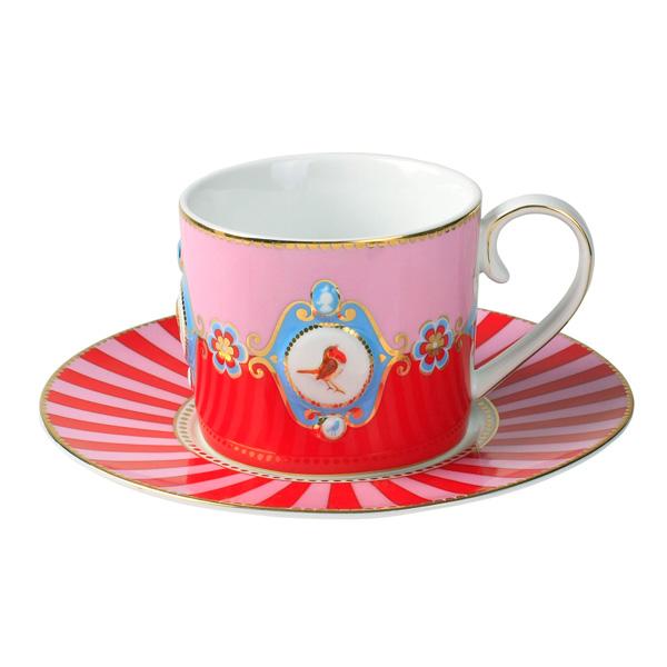 pip studio tasse love birds red pink medallion online kaufen emil paula. Black Bedroom Furniture Sets. Home Design Ideas
