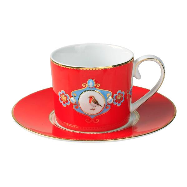 pip studio tasse love birds red medallion online kaufen emil paula. Black Bedroom Furniture Sets. Home Design Ideas