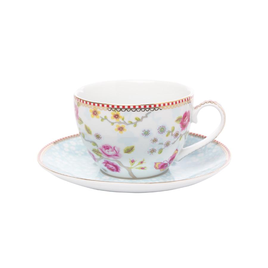 pip studio neu cappucino tasse mit untertasse chinese blossom white online kaufen emil paula. Black Bedroom Furniture Sets. Home Design Ideas
