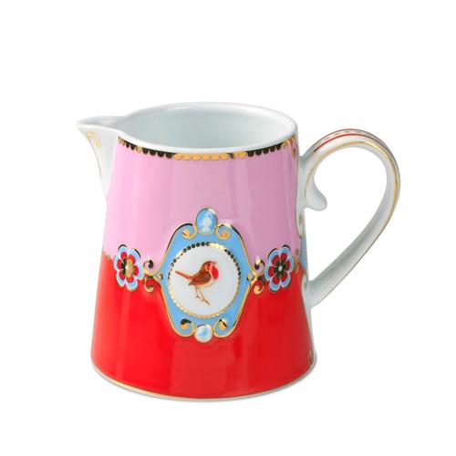 pip studio jug love birds red pink medallion acheter en ligne emil paula. Black Bedroom Furniture Sets. Home Design Ideas