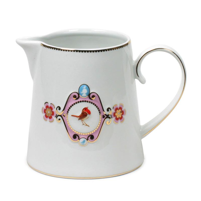 pip studio jug love birds white pink medallion acheter en ligne emil paula. Black Bedroom Furniture Sets. Home Design Ideas