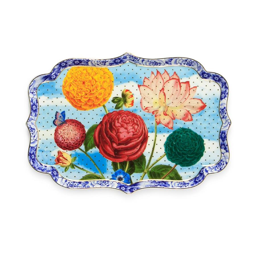 pip studio porzellan kuchenplatte royal flowers online kaufen emil paula. Black Bedroom Furniture Sets. Home Design Ideas