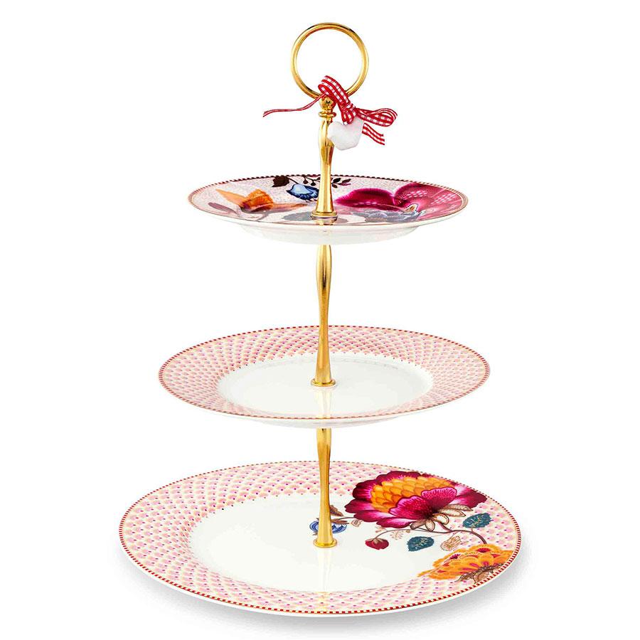 pip studio kuchen etagere 3 st ckig fantasy bloomingtales pink white online kaufen emil paula. Black Bedroom Furniture Sets. Home Design Ideas