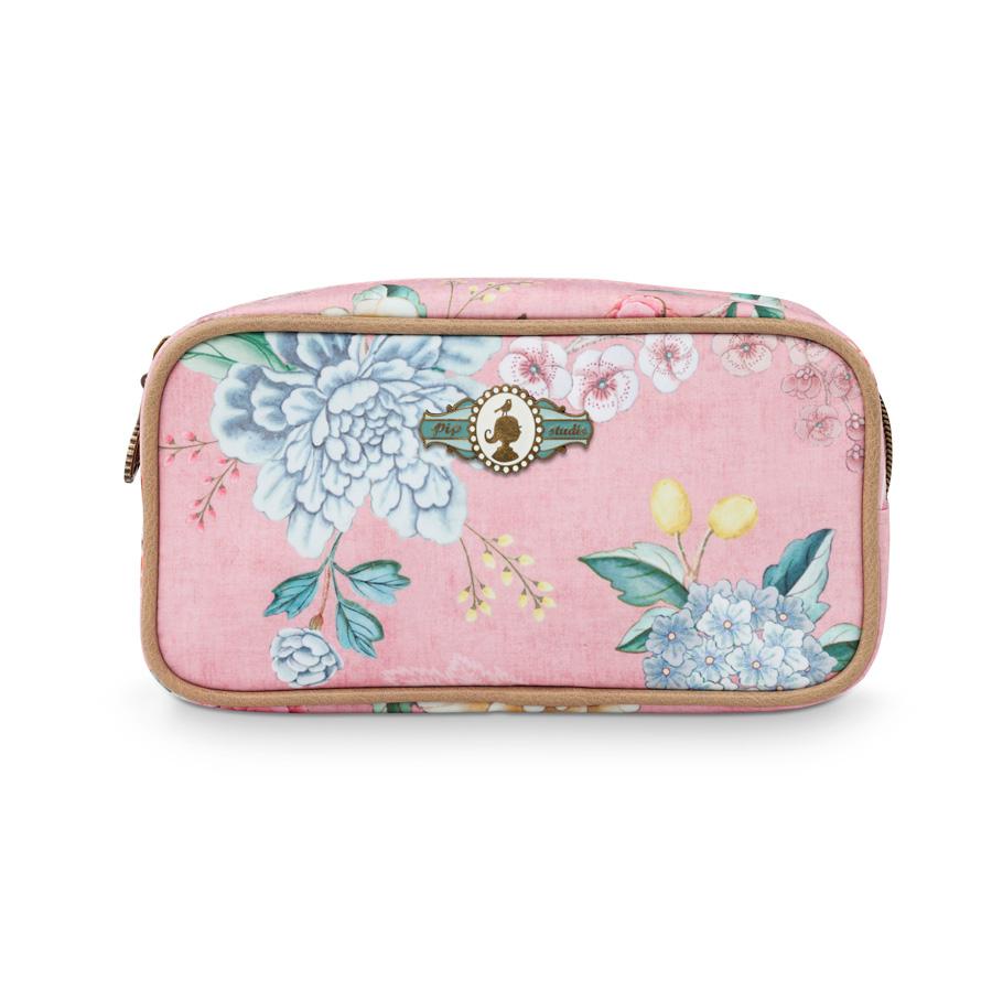 pip studio kosmetiktasche square floral pink online kaufen emil paula. Black Bedroom Furniture Sets. Home Design Ideas