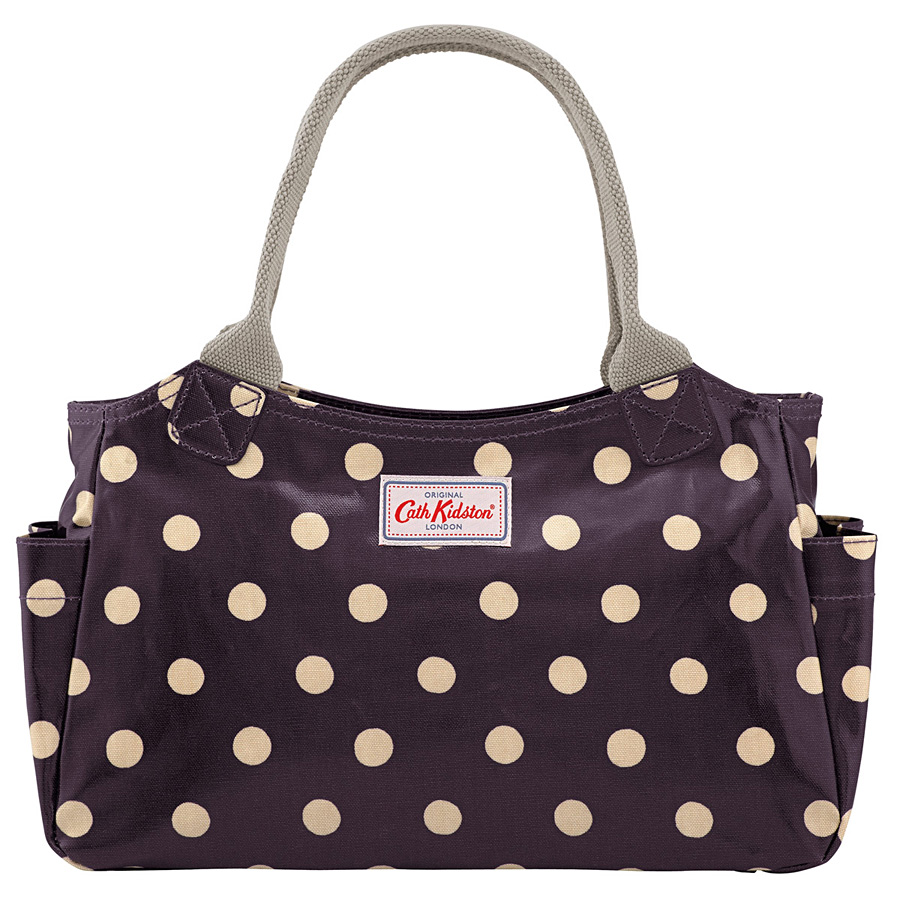 cath kidston tasche button spot grape online kaufen emil paula. Black Bedroom Furniture Sets. Home Design Ideas