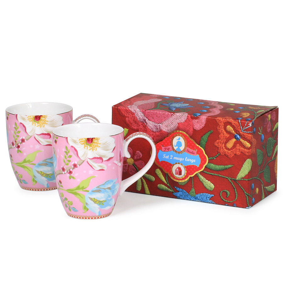 pip studio mug chinese garden 2 er set pink online kaufen emil paula. Black Bedroom Furniture Sets. Home Design Ideas