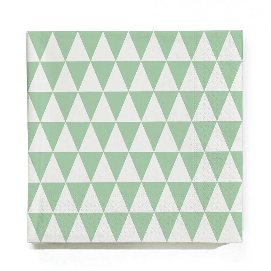 ferm living triangle papierservietten mint online kaufen. Black Bedroom Furniture Sets. Home Design Ideas