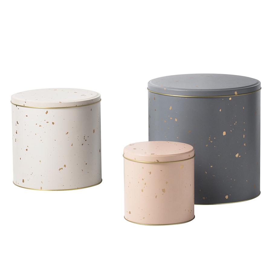 ferm living metalldosen confetti 3er set online kaufen emil paula. Black Bedroom Furniture Sets. Home Design Ideas