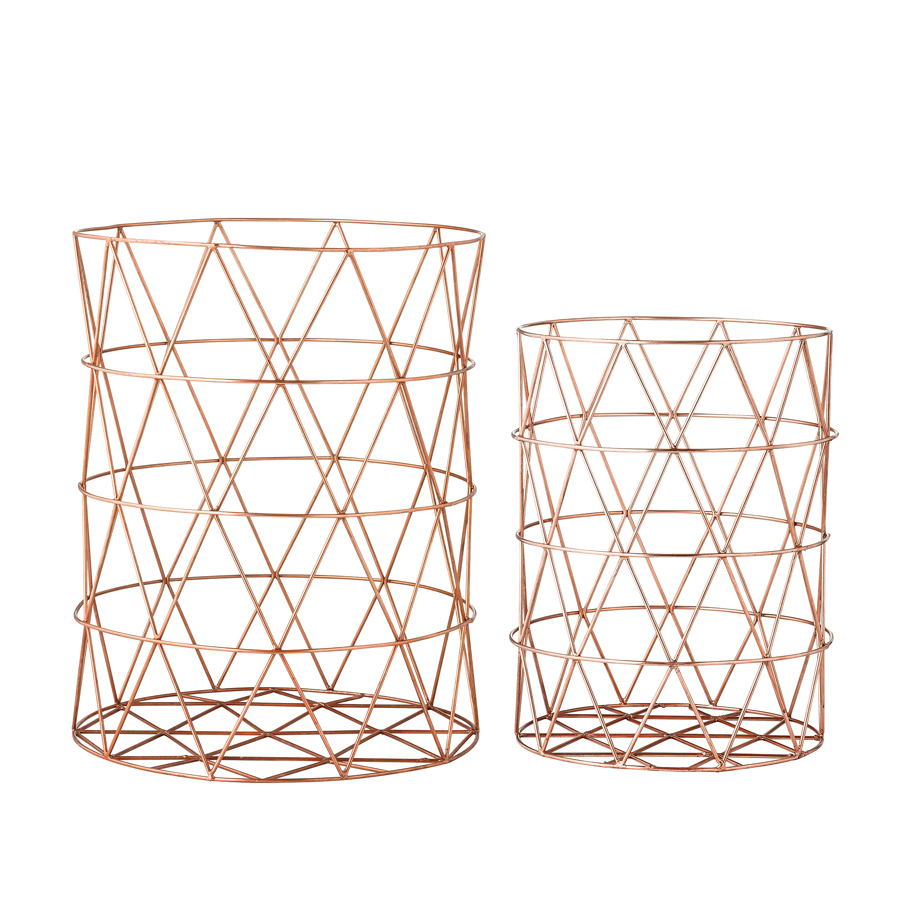 bloomingville metall aufbewahrungskorb kupfer online kaufen emil paula. Black Bedroom Furniture Sets. Home Design Ideas