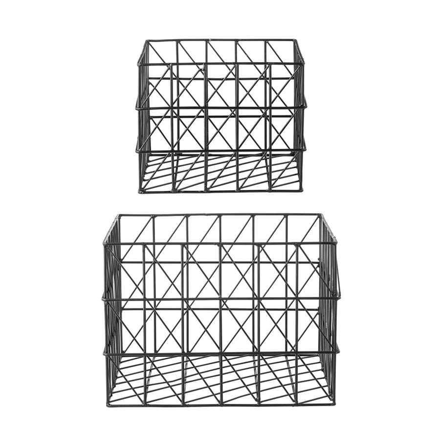 bloomingville metall aufbewahrungskorb schwarz online kaufen emil paula. Black Bedroom Furniture Sets. Home Design Ideas