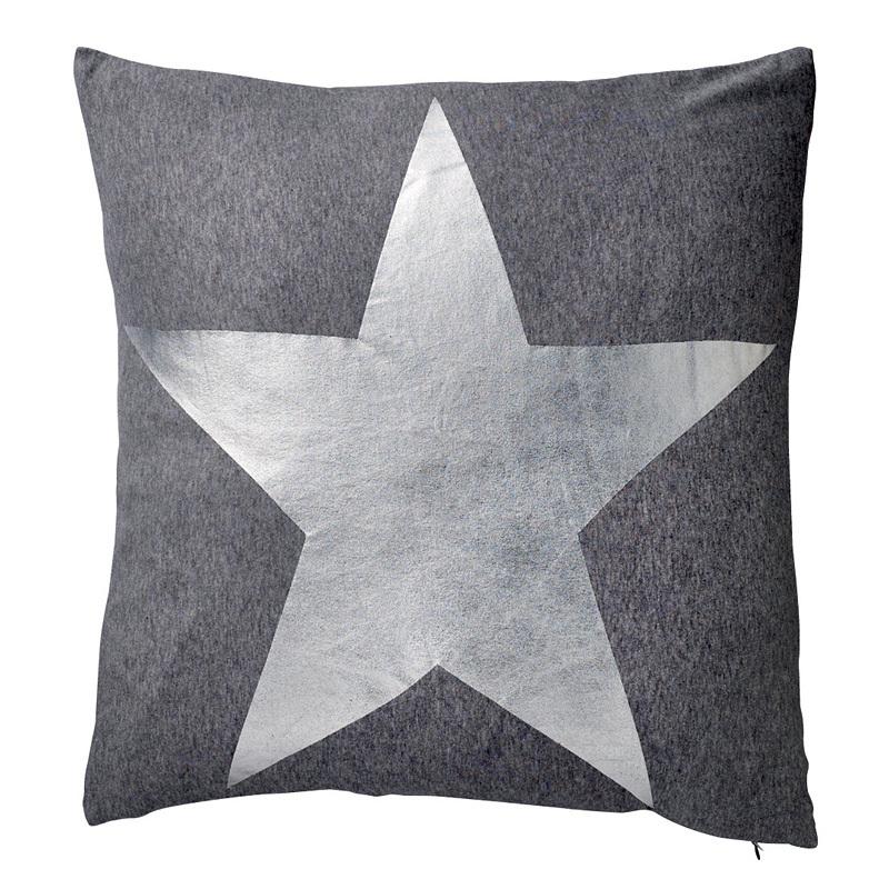 bloomingville kissen silberfarbener stern online kaufen. Black Bedroom Furniture Sets. Home Design Ideas