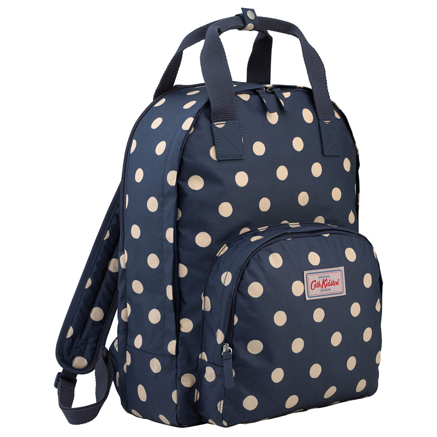 cath kidston rucksack multi pocket button spot navy online kaufen emil paula. Black Bedroom Furniture Sets. Home Design Ideas
