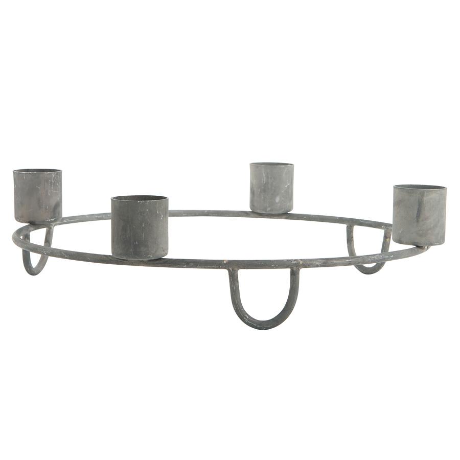 ib laursen advent kerzenhalter grau zink online kaufen. Black Bedroom Furniture Sets. Home Design Ideas