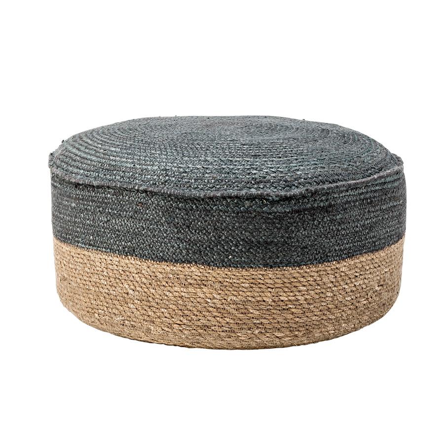 bloomingville sitzhocker pouf jute nature grey online. Black Bedroom Furniture Sets. Home Design Ideas