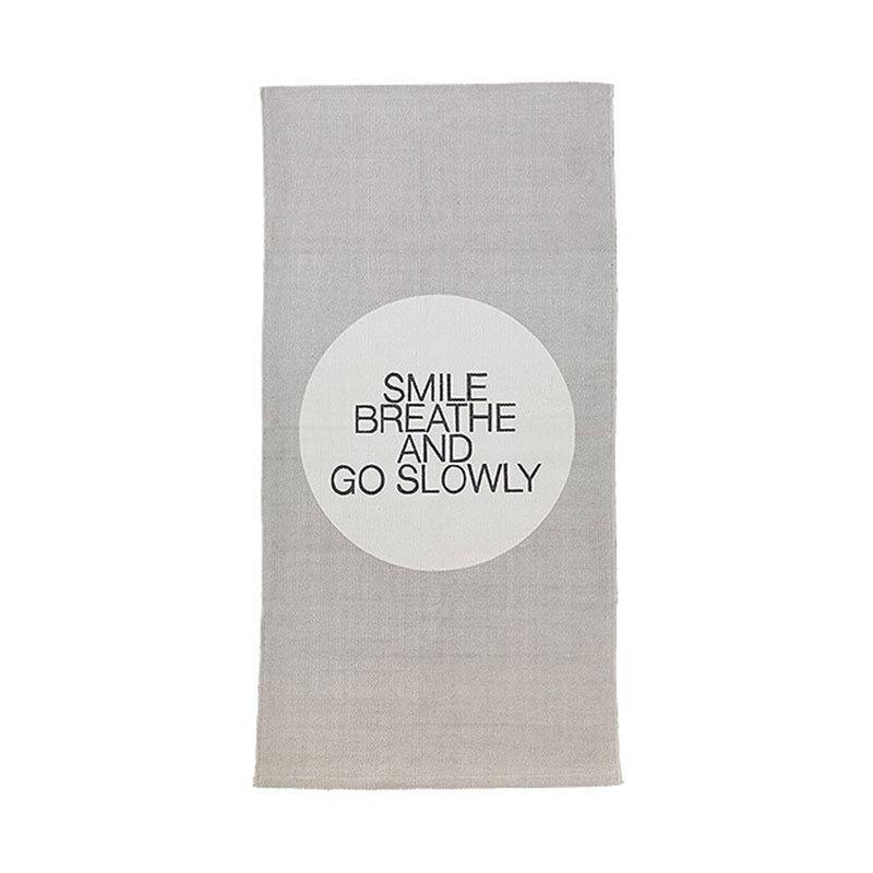 Teppich Grau Mint : bloomingville teppich l ufer smile breathe move mint grau online kaufen emil paula ~ Indierocktalk.com Haus und Dekorationen
