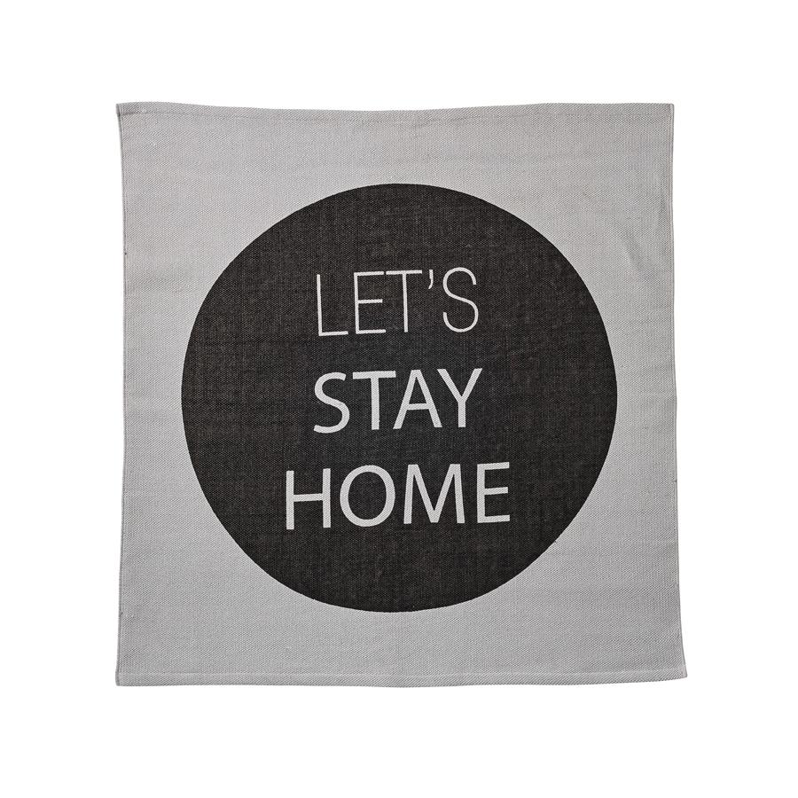 bloomingville teppich let 39 s stay home schwarz grau online. Black Bedroom Furniture Sets. Home Design Ideas