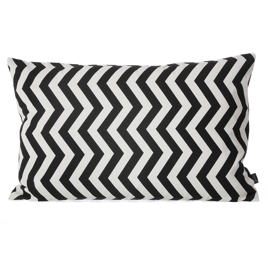 ferm living black zig zag kissen 60 x 40 cm online kaufen. Black Bedroom Furniture Sets. Home Design Ideas