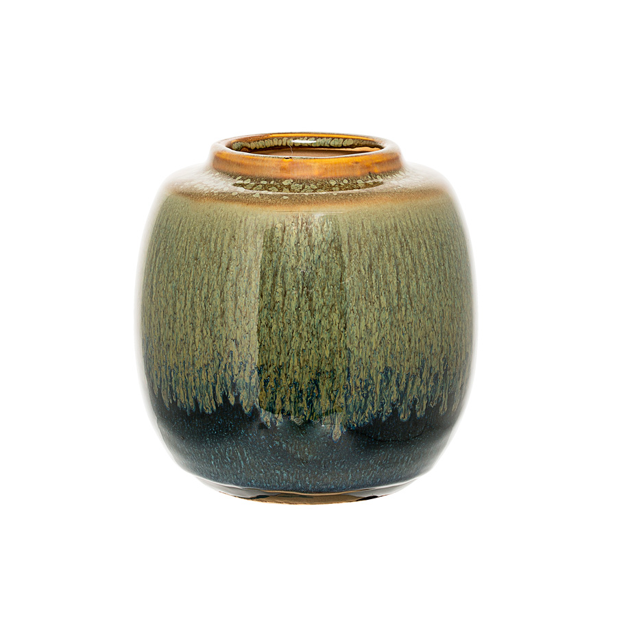 bloomingville vase green blue curry online kaufen emil. Black Bedroom Furniture Sets. Home Design Ideas