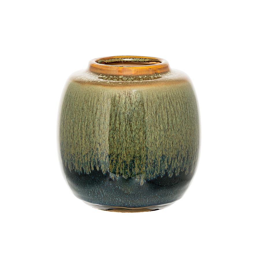 bloomingville vase green blue curry online kaufen emil paula. Black Bedroom Furniture Sets. Home Design Ideas