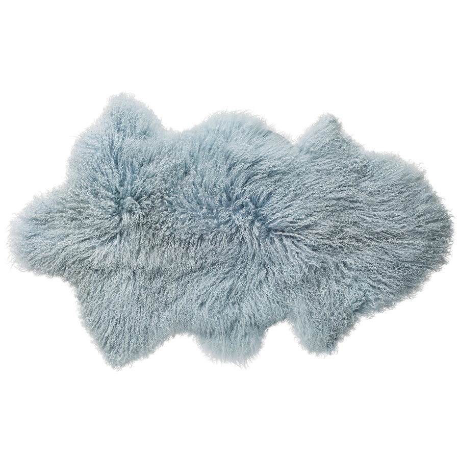 bloomingville mongolisches lammfell sky blue online kaufen emil paula. Black Bedroom Furniture Sets. Home Design Ideas