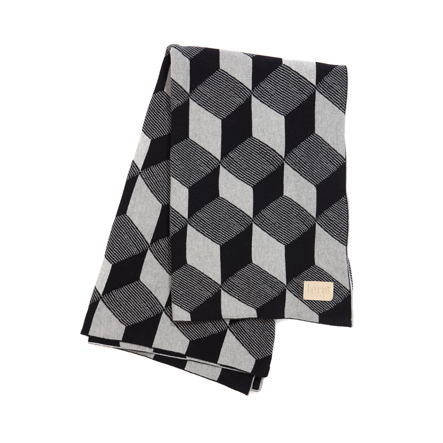 ferm LIVING Tagesdecke Squares BlackGrey online kaufen