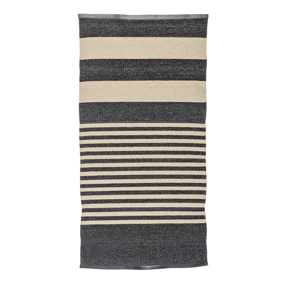 bloomingville teppich stripe black online kaufen emil. Black Bedroom Furniture Sets. Home Design Ideas