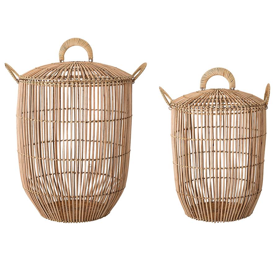 bloomingville aufbewahrungs und w schekorb nature rattan 2er set online kaufen emil paula. Black Bedroom Furniture Sets. Home Design Ideas