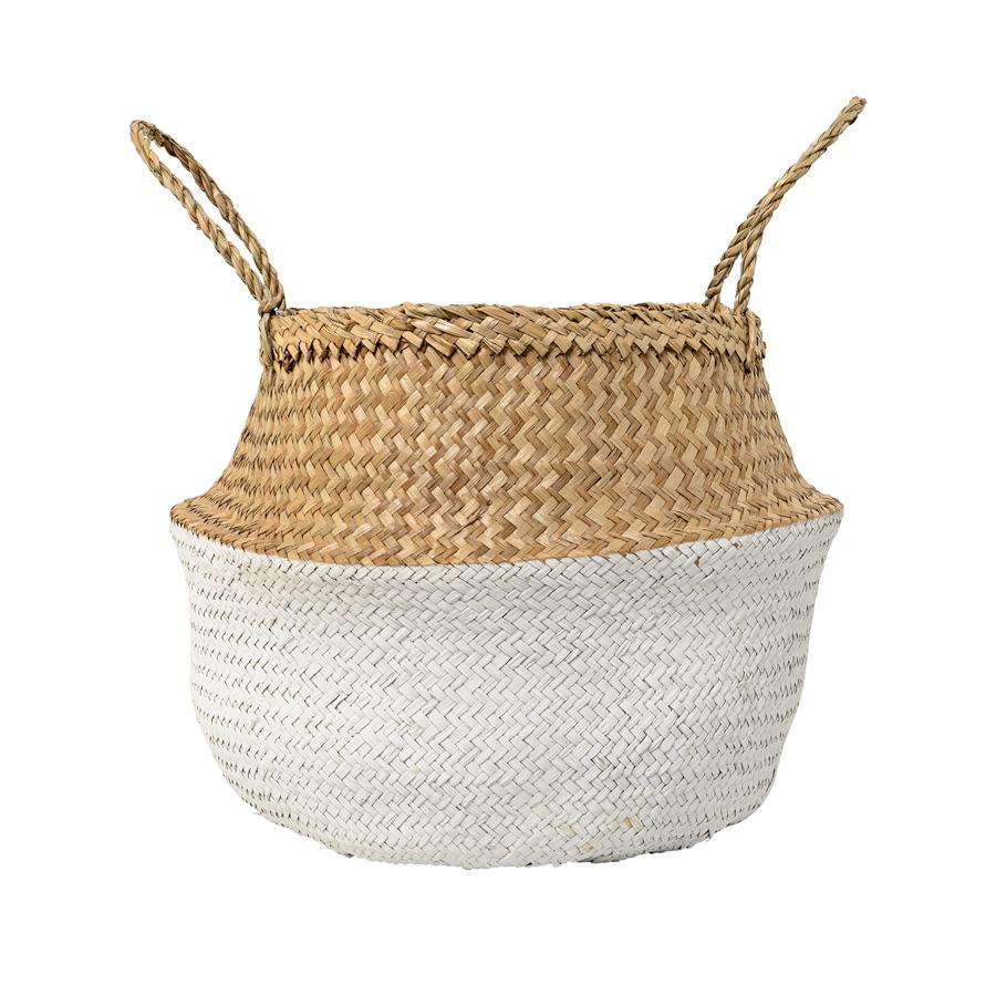 bloomingville korb natural white online kaufen emil paula. Black Bedroom Furniture Sets. Home Design Ideas