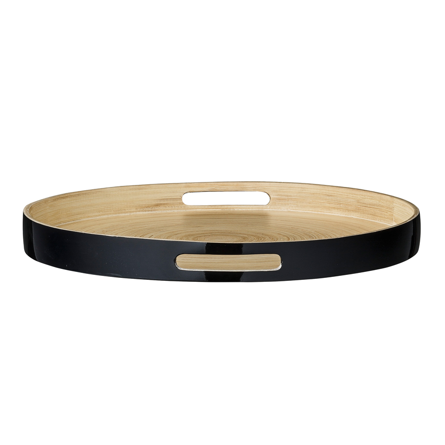 bloomingville tablett bambus julie schwarz online kaufen emil paula. Black Bedroom Furniture Sets. Home Design Ideas