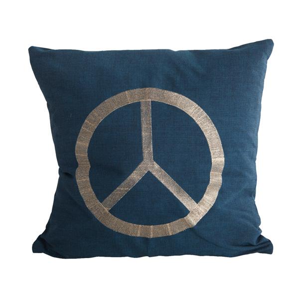 house doctor kissenbezug sign blau online kaufen emil. Black Bedroom Furniture Sets. Home Design Ideas
