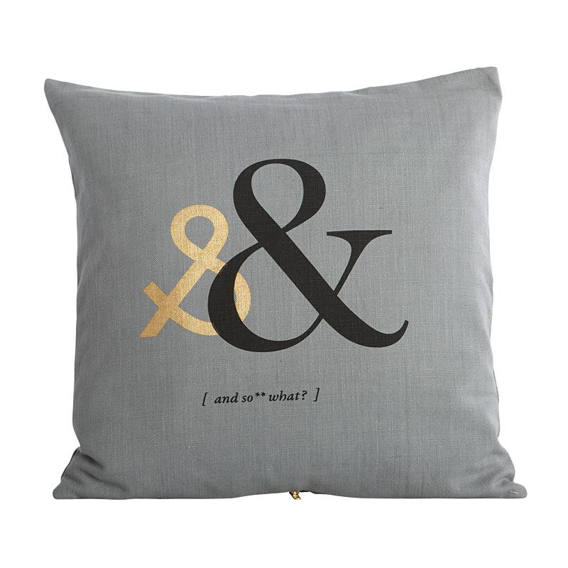 house doctor kissenbezug letter online kaufen emil paula. Black Bedroom Furniture Sets. Home Design Ideas