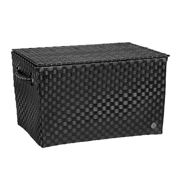 handed by korb mit deckel ancona schwarz online kaufen. Black Bedroom Furniture Sets. Home Design Ideas