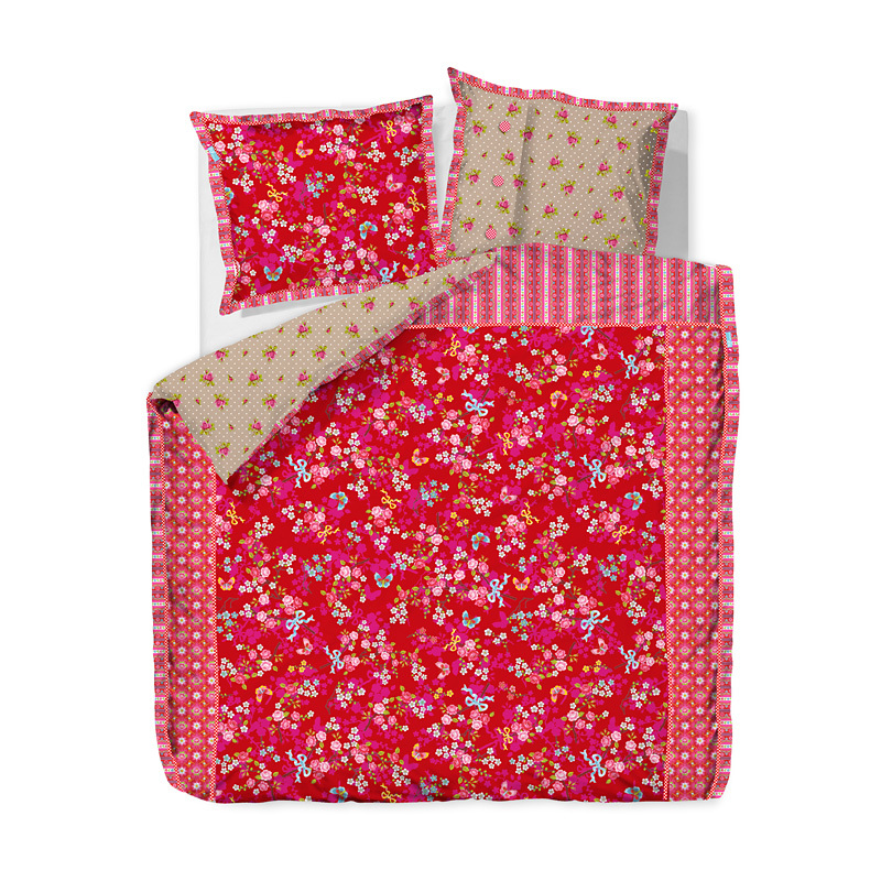 pip studio bettw sche chinese blossom red online kaufen. Black Bedroom Furniture Sets. Home Design Ideas