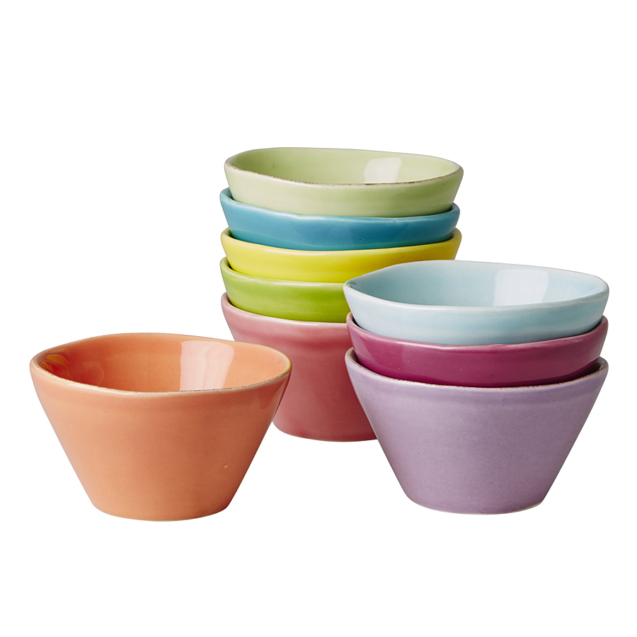 rice keramikschalen pastel colors 9er set online kaufen emil paula. Black Bedroom Furniture Sets. Home Design Ideas